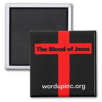 Das Blut von Jesus-Magneten Quadratischer Magnet