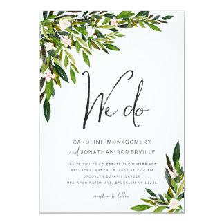 Das botanische Grün-Hochzeits-Einladungs-Set laden Karte