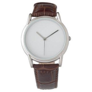 Das Brown-Lederband-Uhr der Männer klassische Armbanduhr