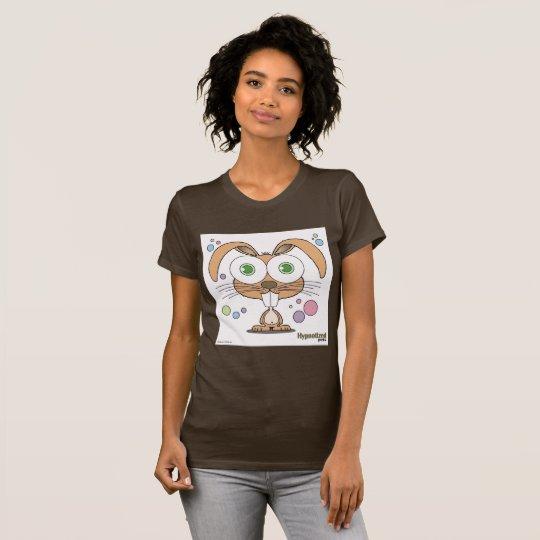 Das Brown-T - Shirt der Frauen des Häschen-(Brown,