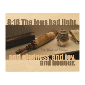 Das Buch der Esther-8:16 Holz-Leinwand Holzwanddeko
