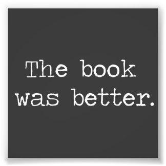 Das Buch war besser Kunst Fotos