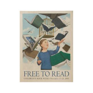 Das Buch-Wochen-Holz-Plakat 2003 Kinder Holzposter