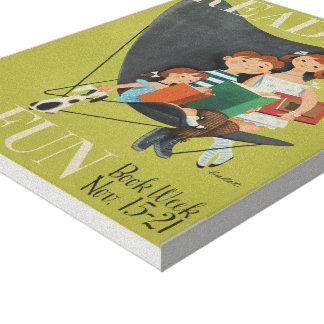 Das Buch-Wochen-Leinwand 1953 Kinder Leinwanddruck