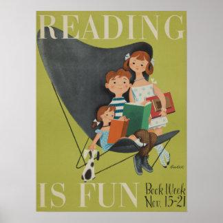 Das Buch-Wochen-Plakat 1953 Kinder Poster