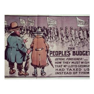 Das Budget', 1909 der Leute Postkarten