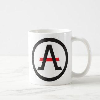 Das Bündnis des Liberalisten verlassen vom Kaffee Kaffeetasse