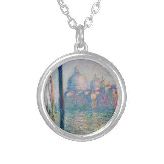 Das Canal Grande in Venedig 01 durch Claude Monet Versilberte Kette