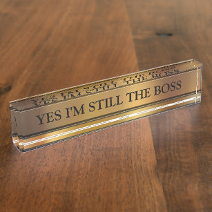Das Chef-Führungskraft-Schreibtisch-Namensschild Namensplakette