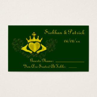 Das Claddagh (Gold) (Hochzeit) Visitenkarte
