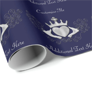Das Claddagh (Silber) Geschenkpapier