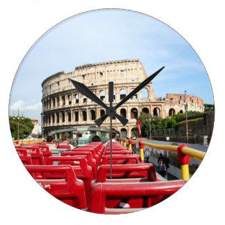 Das Colosseum in Rom Große Wanduhr