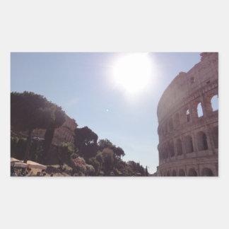 Das Colosseum (Rom) Rechteckiger Aufkleber