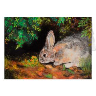 Das Denken an Sie kardieren mit Kaninchen/Häschen Karte