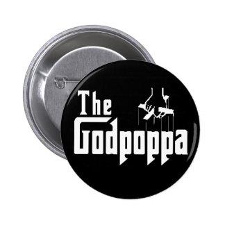 Das Der Vatertags-Kleid Godpoppa Spaß- Runder Button 5,7 Cm