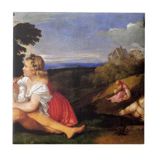 Das drei Alter des Mannes durch Titian Fliese