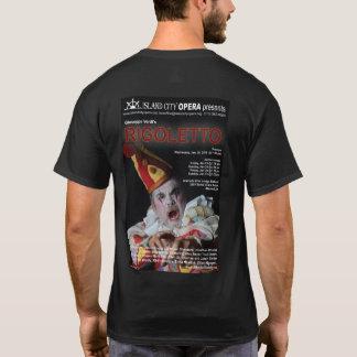 Das dunkle T-Shirt Insel-Stadt-Oper Rigoletto