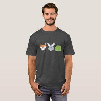 Das dunkle T-Stück der Fox-Kaninchen-Kohl-Männer T-Shirt
