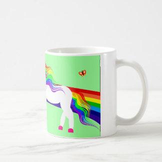 Das Einhorn sieht den Dinosaurier Kaffeetasse