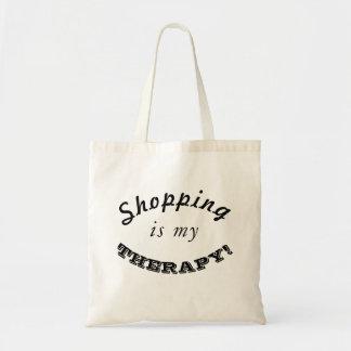 Das Einkaufen ist meine THERAPIE! Tragetasche