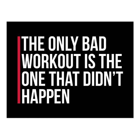 Das einzige schlechte Trainings-Turnhallen-Zitat Postkarte