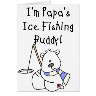 Das Eis-Fischen-Freund des Papas Karte