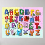 Das englische Alphabet Posterdruck
