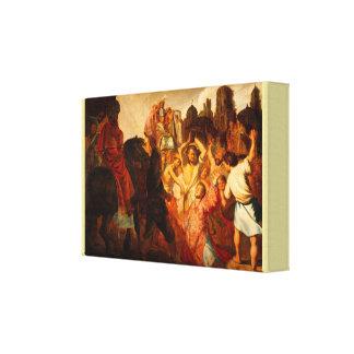 Das Entsteinen von St Stephen durch Rembrandt Van Leinwanddruck