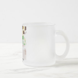 """Das Erfriert Glas zerteilt """"Píxeles """" Matte Glastasse"""