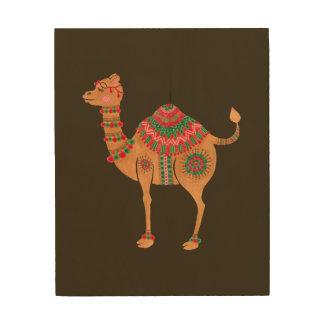Das ethnische Kamel Holzwanddeko