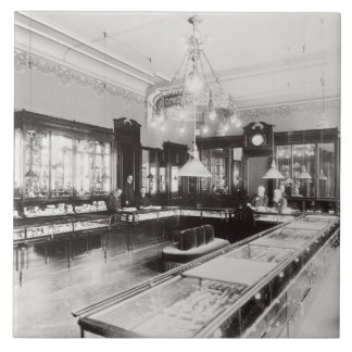Das faberge-Handelszentrum (b/w Foto) Keramikfliese