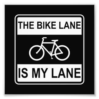 Das Fahrrad-Weg-Zeichen Fotodruck