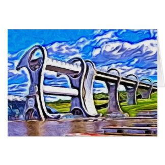 Das Falkirk Rad, Schottland Karte