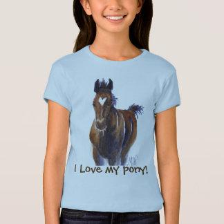 """Das Fohlen-Kunst des Mädchens """"ich Liebe mein T-Shirt"""