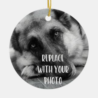 Das Foto-verlorenes Haustier Ihres Haustieres Keramik Ornament