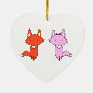 Das fox-Shirt Keramik Ornament