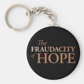Das Fraudacity der Hoffnung Standard Runder Schlüsselanhänger