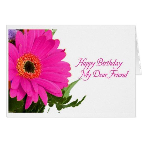 Das Gänseblümchen-Geburtstags-Karte der Diva Karte