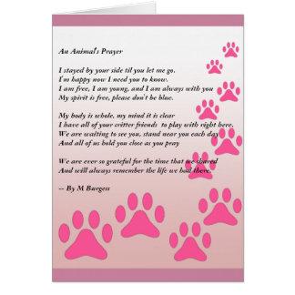 Das Gebet eines Tieres - Karte