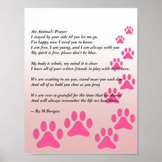 Das Gebet eines Tieres Poster