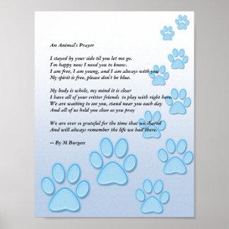 Das Gebet eines Tieres - Poster