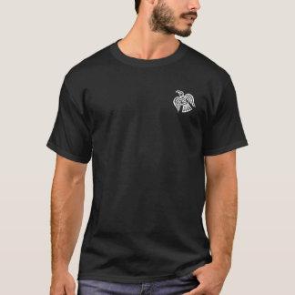 Das gekreuzte Varangian Schutz-Weiß behaut T-Shirt