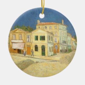 Das gelbe Haus durch Vincent van Gogh Rundes Keramik Ornament