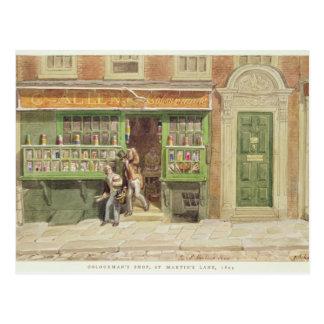 Das Geschäft des Colourmans, St Martin Weg, 1829 Postkarte