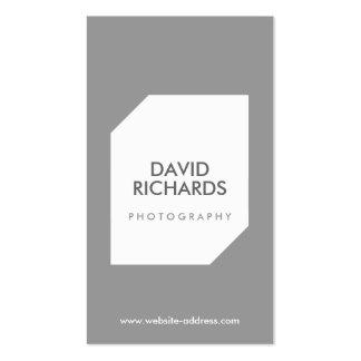 Das Geschäfts-Karte GRAY/WHITE FOTO-LOGO Visitenkarten