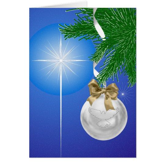 Das Geschenk der Weihnachtsfeiertags-Gruß-Karte Karte