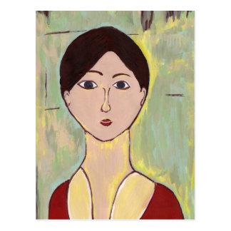 Das Gesicht des Mädchens nach Matisse Postkarte