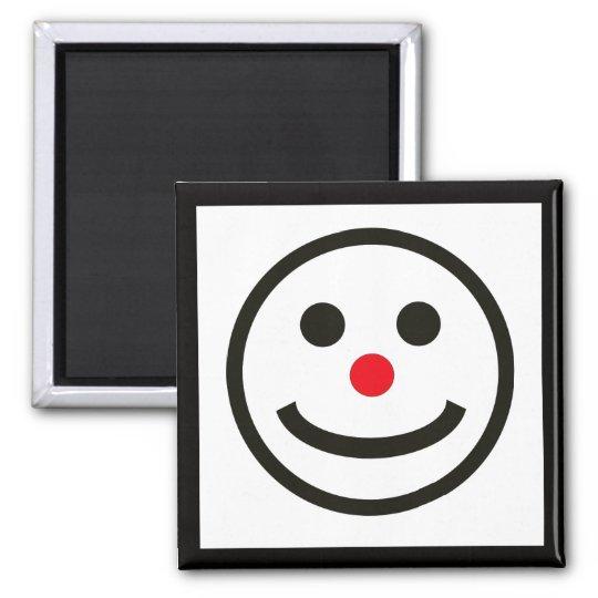 Das glückliche Gesicht Quadratischer Magnet
