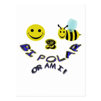 das glückliche polare Bi mit 2 Bienen oder sind Postkarte