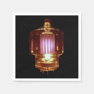 Das Glühen übertragen Vakuumröhre Papierservietten
